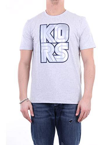 Michael Kors CS05JCCFV4 - Camiseta de manga corta para hombre gris L