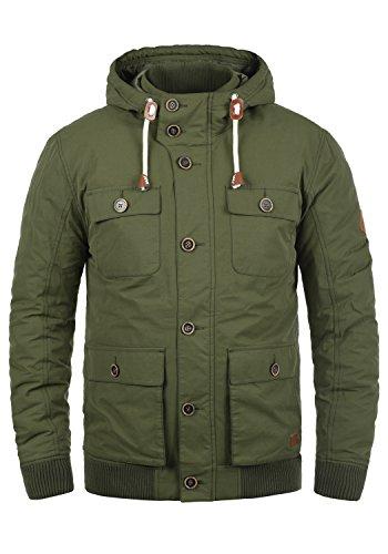 Blend Ciro Herren Übergangsjacke Herrenjacke Jacke mit Kapuze, Größe:L, Farbe:Ivy Green (77026)
