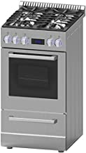 "Avanti DGR20P3S 20"" Gas Range with Sealed Burner Cast Iron Grates Waist High Broil in"