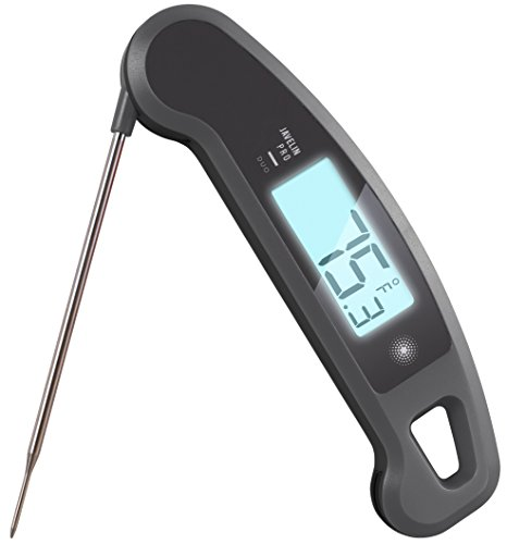 Lavatools Javelin PRO Duo Ambidextrous Backlit Professional Digital Instant Read Meat Thermometer for Kitchen, Food Cooking, Grill, BBQ, Smoker, Candy, Home Brewing, Coffee, and Oil Deep Frying