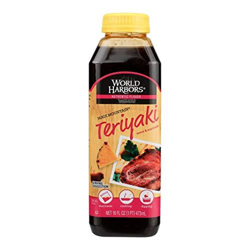 World Harbors Hot Teriyaki, 16-Ounce Bottles (Pack of 6)