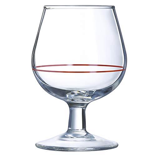 Arcoroc, cognac-glazen van glas, 10 cl, 6 stuks
