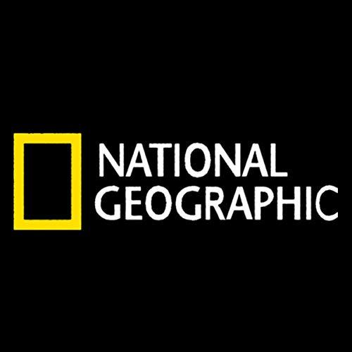 Pegatinas de Coche-Calcomanía National Geographic Channel Etiqueta Engomada Del Coche Etiqueta De La Personalidad Impermeable Portátil Maleta Accesorios De Coche PVC 24cmx7cm-Blanco Amarillo-15cm