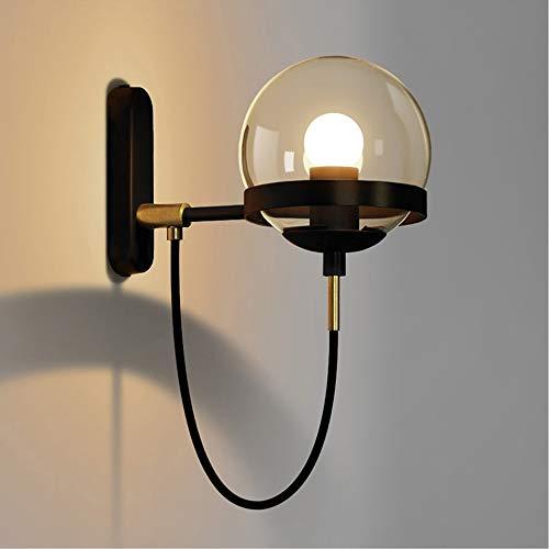LCSD Lámpara de pared de diseño minimalista moderno lámpara de pared de cristal lámpara de pared de metal lámpara de pared para sala de estar, comedor...