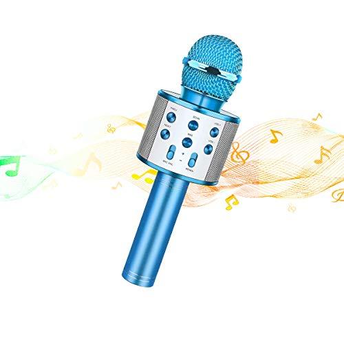 Great Deal! Wireless Bluetooth Karaoke Microphone Kids Adults, Portable Handheld Karaoke Speaker Mac...