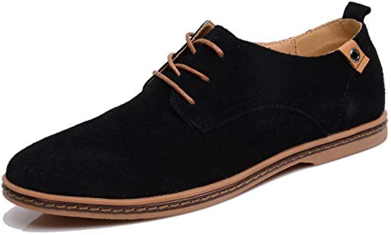 LOVDRAM Men'S Leather shoes Men'S shoes Fashion Large Size 474645 Leather shoes Wild Men'S Leather Casual shoes