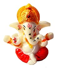 Cutest / Adorable Mini God Idol. Perfect for Car Dashboard. NOTE: Sticky tape is not included under Ganeshji. High Quality Detailed Craft Work & Made of Poly Marble. Great Fengshui gift. Size: 2.5x2x1.5 inches. Ideal Gift for Your Loved Ones. May Gan...