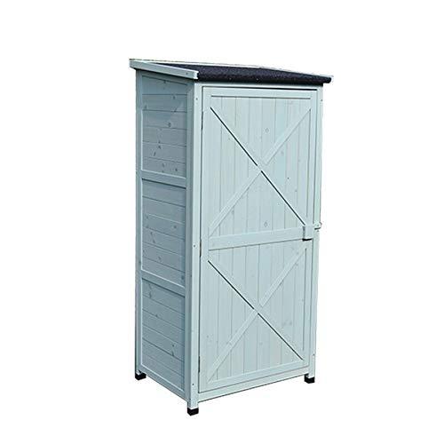 41HELQ7JtyL - Zengqhui Outdoor-Holzwerkzeugschrank Lagerhalle 3-Tier Abnehmbarer Regal for Balkon Garten Terrasse Ideale Aufbewahrungsbox für den Außenbereich (Farbe : Grün, Size : Full-Layer Board.)