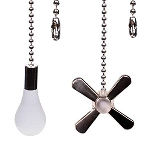 Ceiling Fan Chain Pulls 2 Pcs Fan Pull Chain Ornament 13.6 Inches Fan Pull Set for Ceiling Fan Switch and Ceiling Fan Light