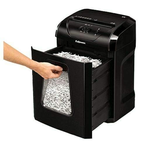 Fellowes Powershred 12C 12-Sheet Cross-Cut Professional Paper Shredder
