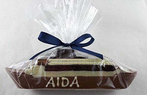 04#012821 Schokoladen, Aida, Schiff, beschriftet, aus Vollmilch Torten, Deko, Hafen, Wasser, Geschenk, NEU