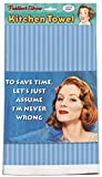 Fiddler's Elbow Save Time Kitchen Towel | Humor Ephemera XL Dish Towel | 100% Cotton Made in The U.S.A