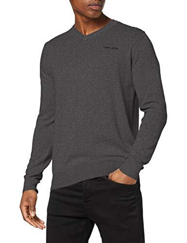 Teddy Smith Pulser suéter, Gris (Anthracite Chiné 177b), Medium para Hombre