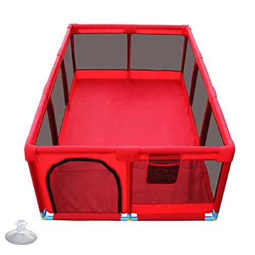 WYQ Parque Infantil Bebe para Uso Interior y Exterior, Colorear Playard Rectangular Impermeable Seguridad (Rojo)