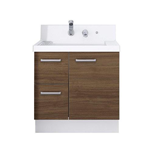 LIXIL(リクシル) INAX 洗面化粧台 K1シリーズ 幅75cm 片引出 クリエモカ K1H4-755SY/LM2H