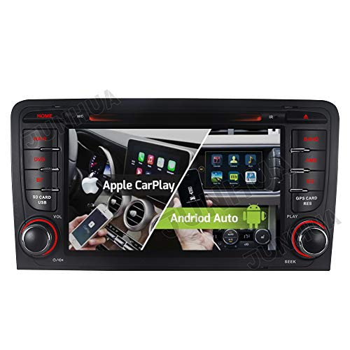 Junhua Bilaterale 2+32G Dual Radio Tuner FM Carplay+Android Auto ROHM DSP Autoradio DVD GPS Navigation Navi Radio Bluetooth DAB+ WiFi OBD 4G LTE TPMS Lenkrad IPS für Audi A3 S3 RS3 8P 8V 8PA