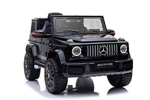 Kaufexpress Mercedes Benz G63 AMG Jeep SUV Geländewagen Kinderfahrzeug Kinderauto Elektroauto Fernbedienung MP3 Anschluss in Schwarz