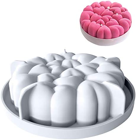 Large size silicone cake mold 6 inch heart shaped silicone cake mold chocolate mousse dessert product image
