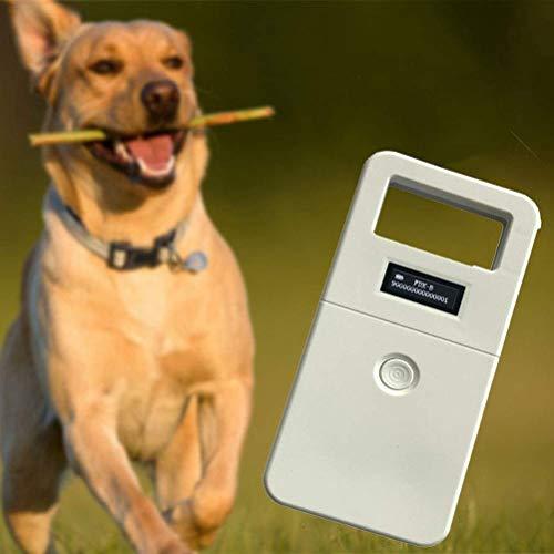 ZXGQF RFID 134,2 kHz ISO FDX-B Tierchip-Lesegerät, Mikrochip-Taschen-Tieranalysegerät, OLED-Display, geeignete Kennzeichnung der Haustierhaltung