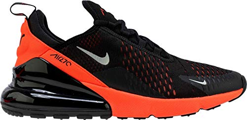 Nike Herren Men's Air Max 270 Shoe Leichtathletikschuhe, Mehrfarbig (Black/Metallic Silver/Bright Crimson 026), 44 EU