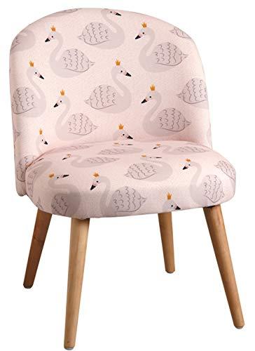 PEGANE Chaise Enfant en Coton et Bois, Coloris Rose Motif Signe - Dim : 44 x 47 x 60 cm