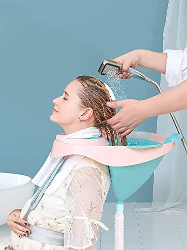 GHzzY Haarwaschschale - Medical Shampoo Basin für Behinderte, Schwangere, Ältere und Kinder - Waschen Sie im Rollstuhl oder Stuhl
