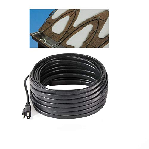 H&G lifestyles Roof Snow De-Icing Self-Regulating-Plug-in Ready Heat Cable 100 feet 8 Watts Per Foot