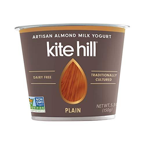 Kite Hill Artisan Almond Milk Yogurt Plain, 5.3 Ounce (Pack of 12)