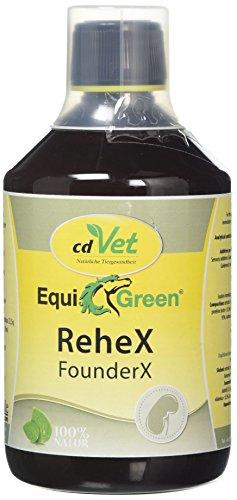 cdVet EquiGreen Anti Rehe Futter Ergänzungsmittel ReheX 500 ml für Pferde und Ponys zur Unterstützung bei Hufproblemen, Leber und Niere, 6002
