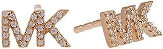 Michael Kors Women Cubic Zirconia Premium Earrings Rose Gold