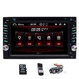 Double 2 Din Bluetooth Car Stereo in Dash DVD CD FM/AM Car Radio