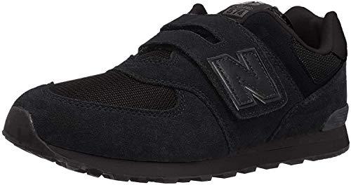 New Balance 574 V1 Evergreen Hook and Loop Sneaker, Black/Grey, 13.5 US Unisex Little Kid