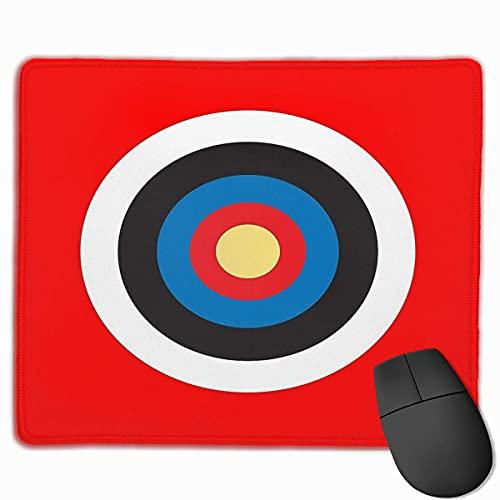 N\A Tiro con Arco del Roundel del Objetivo del Ojo de Buey en Rojo. Mousepad Cosido del Ordenador del cojín de ratón del Juego del Ordenador portátil del Borde