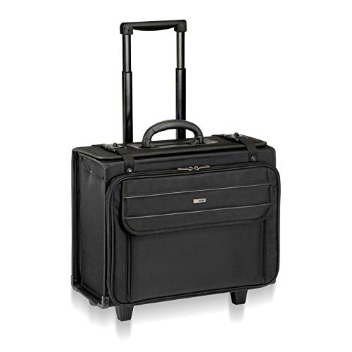 Solo Rolling Laptop Catalog Case- W/Hanging File, Pilot bag in Black