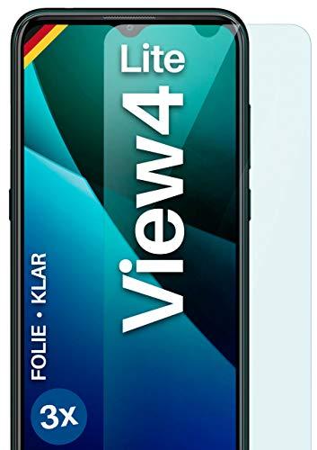 moex Klare Schutzfolie kompatibel mit Wiko View4 Lite - Bildschirmfolie kristallklar, HD Bildschirmschutz, dünne Kratzfeste Folie, 3X Stück