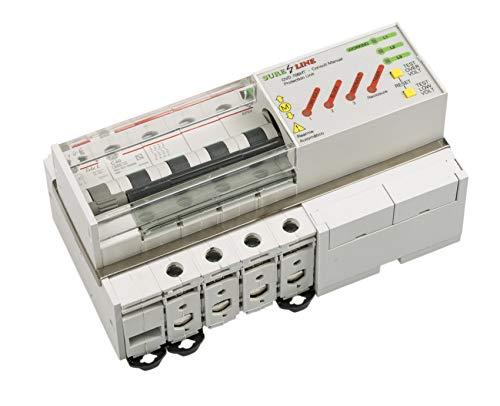 Disyuntor Magnetotérmico Trifásico con protección por sobreintensidad, baja tensión y sobretensión, con Rearme Automático LED706 (20A, 5 milisegundos)