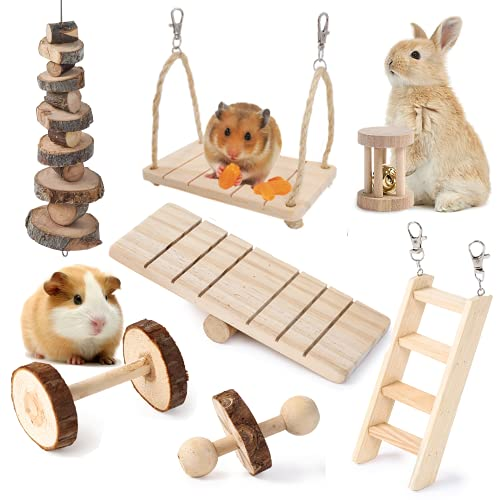 JanYoo Hamster Accessories and Toys for Cages Real...