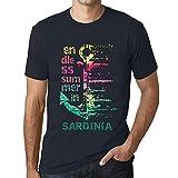 Hombre Camiseta Vintage T-Shirt Gráfico Endless Summer In Sardinia Marine