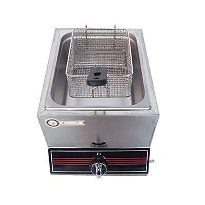 MGW Équipement de Restauration Friteuse à gaz Friteuse à gaz Friteuse à gaz, Acier Inoxydable de qualité Alimentaire, pour Le Restaurant et la Maison