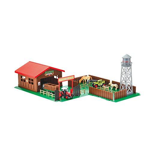 Toi-Toys 21757A - Spielset Farm mit Tieren, Traktoren und viel Zubehör