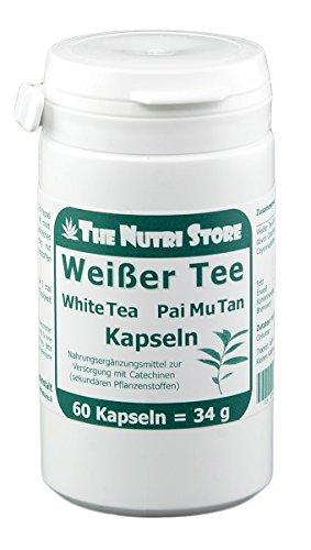 Weisser Tee Pai Mu Tan Kapseln 60 Stk. - Zur Versorgung mit Catechinen (sekundären Pflanzenstoffen)