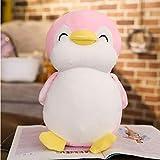 LDBJY 30-55cm Pingüino Gordo Suave Peluches de Peluche Animal de Dibujos Animados Muñeca Juguete de Moda para niños Bebé Chicas Encantadoras Regalo de cumpleaños de Navidad 55cm Rosa
