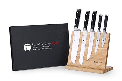 Izumi Ichiago Set - 5 Piezas de coltelli Santoku + con Porta...