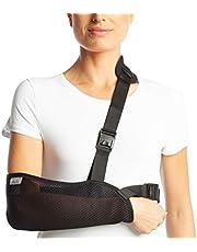 ArmoLine Cabestrillo para brazo - inmovilizador de hombro - inmovilización de brazo posquirúrgica - soporte ortopédico para rehabilitación (S (34-38 cm))