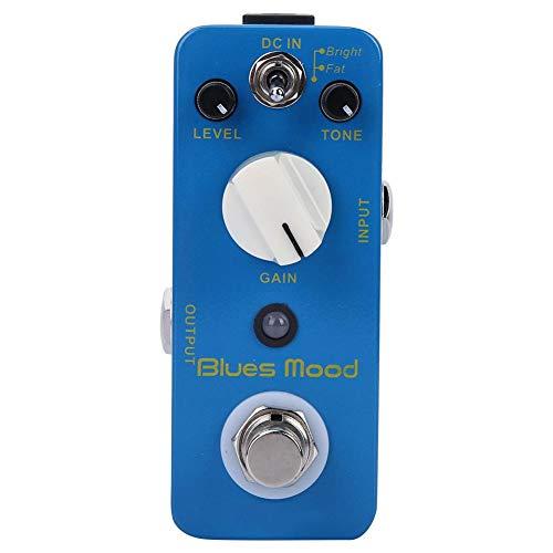 Pedale effetto overdrive Blues Style con True Bypass, modalità overdrive a blocco singolo per chitarra elettrica effetto 2 modalità (brillante/grasso)