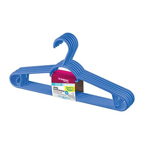 Sanremo PR9105/617, Cabide de plástico, Azul Escuro, 6 Peças