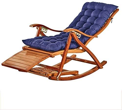Silla mecedora de Office Life Zero Gravity, plegable con cojín, cómodo respaldo curvo para jardín, patio, reclinable, tumbona (color A3) (color A3)
