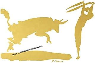 Pablo Picasso The Bullfight III Imitation 16x12 GOLD Canvas Gallery Wrap Metallic Art Home Wall Decor