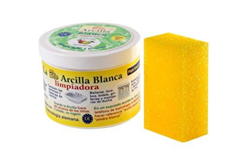 Bio Arcilla Blanca Limpiadora con esponja incluida 600 GR