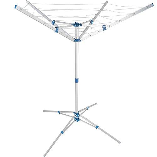 TecTake Aluminium Wäschespinne Wäscheschirm | 4 Tragarme | Stufenlos höhenverstellbar - Diverse Modelle (Typ 2 | Nr. 402720)
